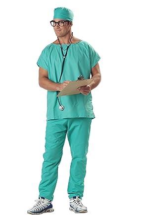 61a109c7a9e7e Amazon.com: California Costumes Doctor Scrubs Set: Clothing