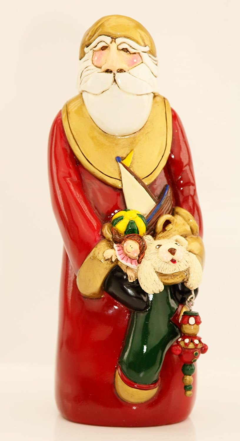 Amazon.com: Blue Sky Clayworks Handcrafted Christmas Ye Old Santa ...