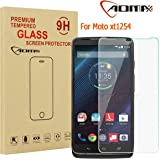 Aomax For Motorola Moto Droid Turbo XT1254 Tempered Glass Screen Protector [Superslim 0.26mm,2.5D Round Edge,9H Hardness] [Retail Package] For Motorola Droid Turbo XT1254 Glass New