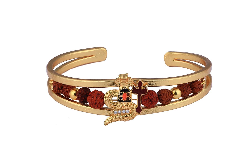 Glory Jewels Rudraksh American Diamond Gold Meena Snake Design ...