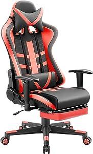 Homall Ergonomic High-Back Racing Pu Leather Bucket Seat