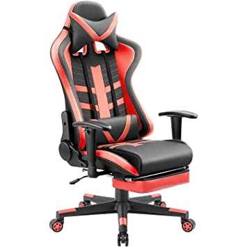 Stupendous Homall Ergonomic High Back Racing Chair Pu Leather Bucket Seat Computer Swivel Office Chair Headrest And Lumbar Support Executive Desk Chair With Gmtry Best Dining Table And Chair Ideas Images Gmtryco