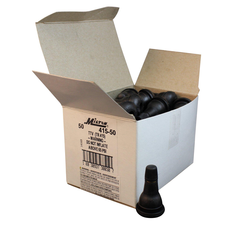 Box of 50 Milton 415-50 1 1//4 Tubeless Tire Valve