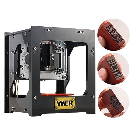 WER Máquina de grabado 1000mW mini grabador láser impresora con ...