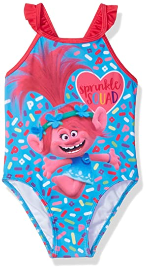 7c1de28d5cbb8 Amazon.com  Dreamwave Toddler Girls  Trolls Swimsuit  Clothing