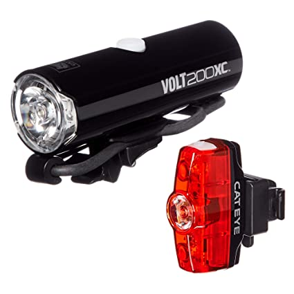 bb531d24db7 Image Unavailable. Image not available for. Color  CAT EYE - Volt 200 XC  Rechargeable Headlight and Rapid Mini Rear Bike Light