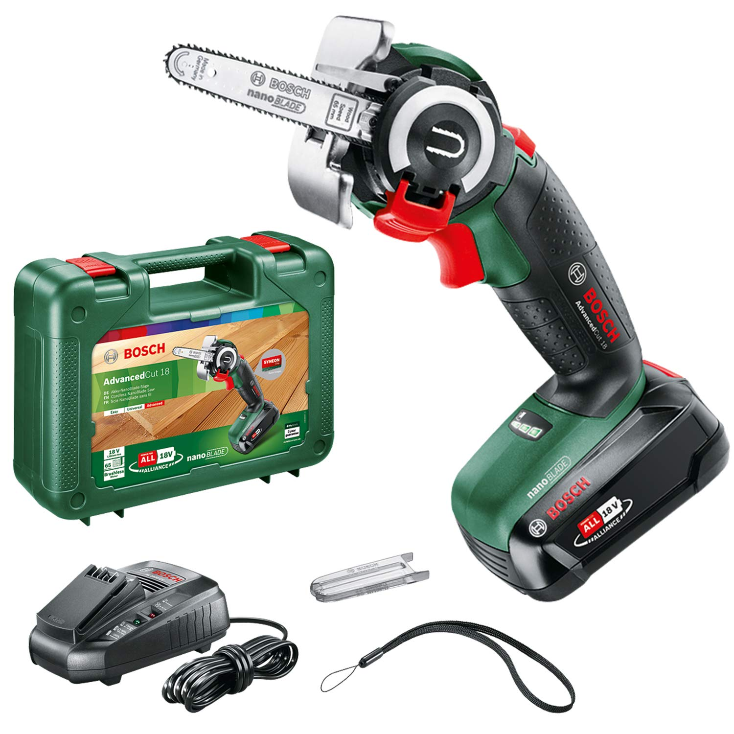 Bosch NanoBlade Cordless Saw AdvancedCut 18 (1x Battery, NanoBlade Technology, 18 Volt System, in Case)