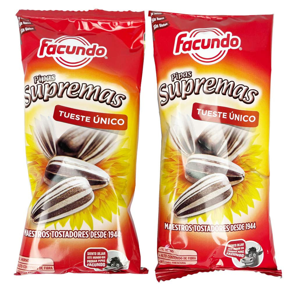 Pipas Facundo Toasted Sunflower Seeds (Pipas Extra) 2 x 120gr