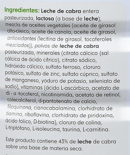CAPRICARE 1 Preparado Lactantes con Leche de Cabra 800G: Amazon.es: Alimentación y bebidas