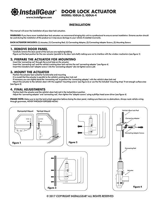 Amazon.com: InstallGear Universal Car Power Door Lock Actuators 12 on wiper switch wiring, dimmer switch wiring, universal tail light wiring, universal wiring harness, fuel pump wiring, universal fuel gauge wiring,
