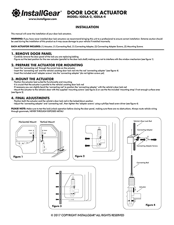 Amazon.com: InstallGear Universal Car Power Door Lock Actuators 12 on door accessories diagram, door hardware diagram, door frame diagram, door cable diagram, power steering line diagram, door testing diagram, door trim diagram, door guide, door harness diagram, door installation diagram, door framing diagram, door parts diagram, door switch diagram, lock diagram, door construction diagram, door assembly diagram, door wood diagram, access control door diagram, door components diagram,