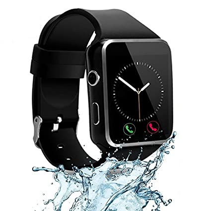 CNPGD [US Office & Warranty Smart Watch All-in-1 Smartwatch Watch Cell Phone for Android, Samsung, Galaxy Note, Nexus, HTC, Sony (Black, M)