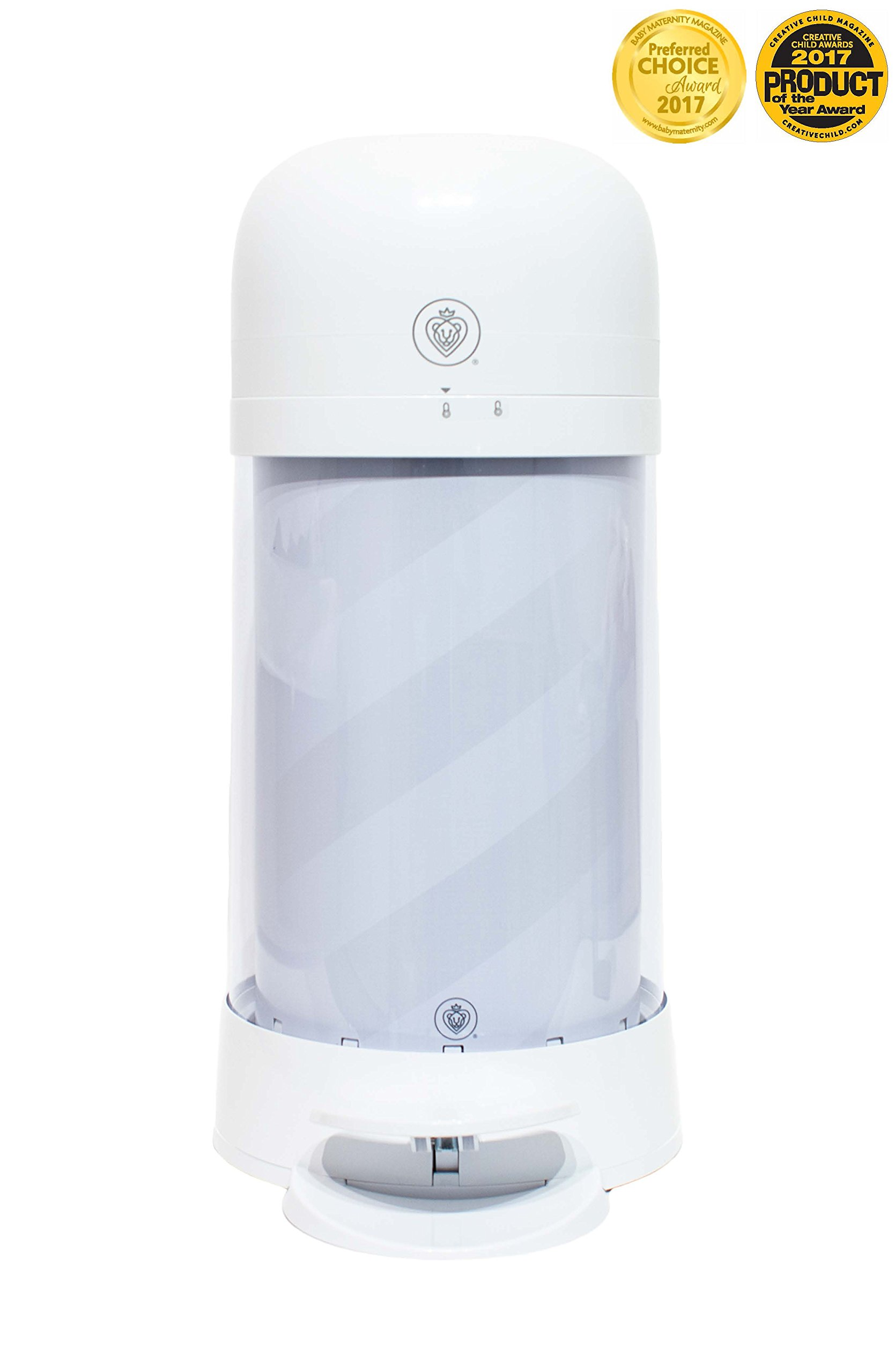 Prince Lionheart Twist'r Diaper Disposal System, White Candy Stripe by Prince Lionheart