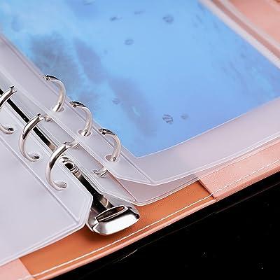 35pcs Binder Pockets A6 Binder Zipper Folders 6 Holes Zipper ...