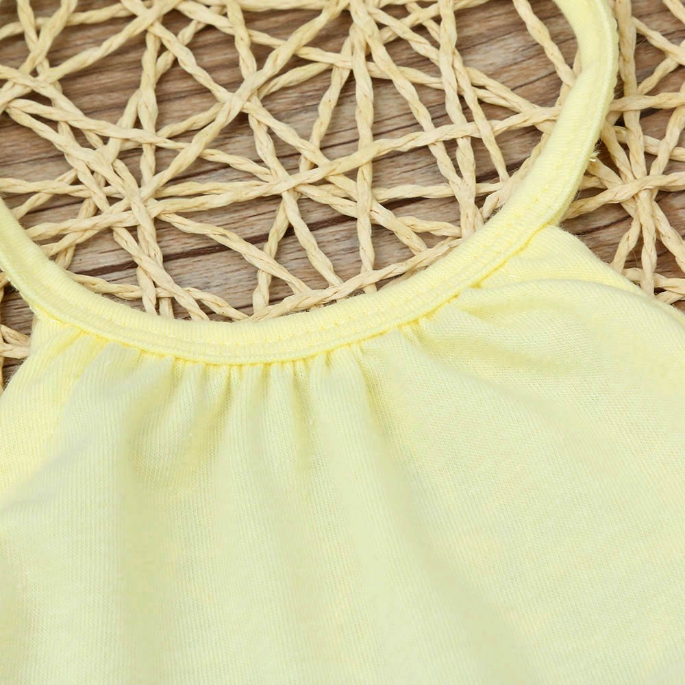 Kid 100/% Cotton Jumpsuits Piece Harem Pants Clothing Baby Girls Straps Rompers