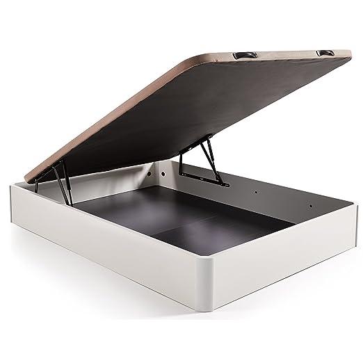 HOGAR24 Conjunto canape abatible madera gran capacidad + colchon viscoelastico Memory Fresh 3D (150 x 190, Wengué): Amazon.es: Hogar