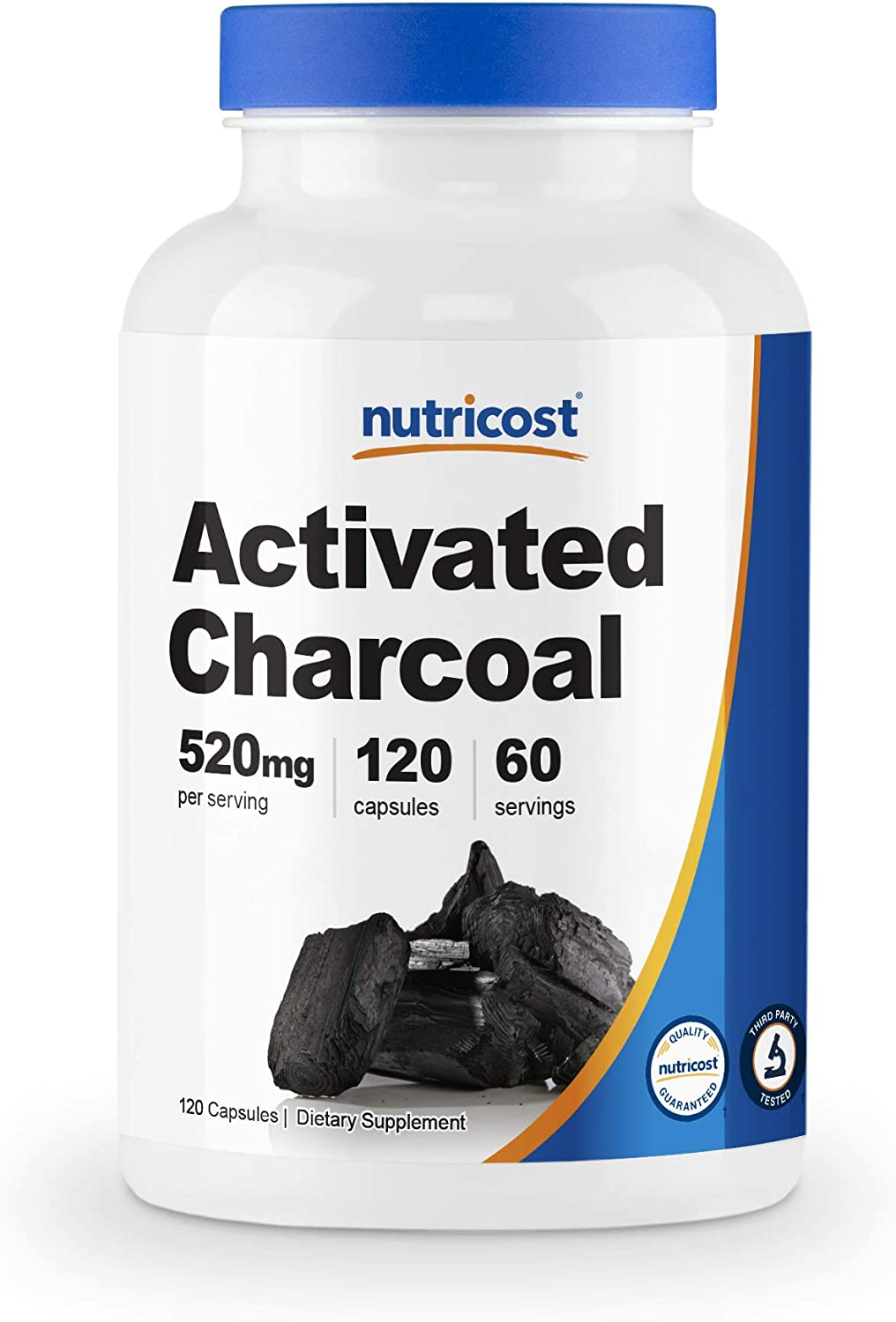 Nutricost Activated Charcoal 120 Capsules - Premium Activated Charcoal Powder, Non-GMO & Gluten Free (1 Bottle): Health & Personal Care