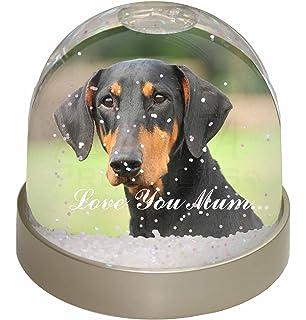 Doberman Pinscher-With Love Photo Slate Christmas Gift Ornament AD-DM1uSL