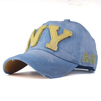 Amazon.com : 2018 unisex fashion cotton baseball cap snapback hat for men women sun hat bone gorras ny embroidery spring cap (Sky Blue Color) : Everything ...