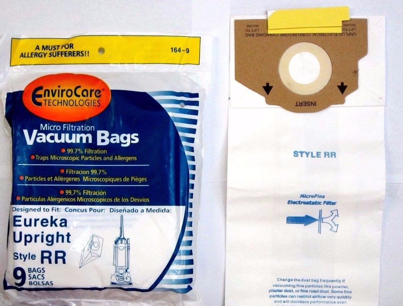 9 Eureka Style RR Vacuum Bags Micro Lined Allergen Filtration #61115 boss smart vac 4800