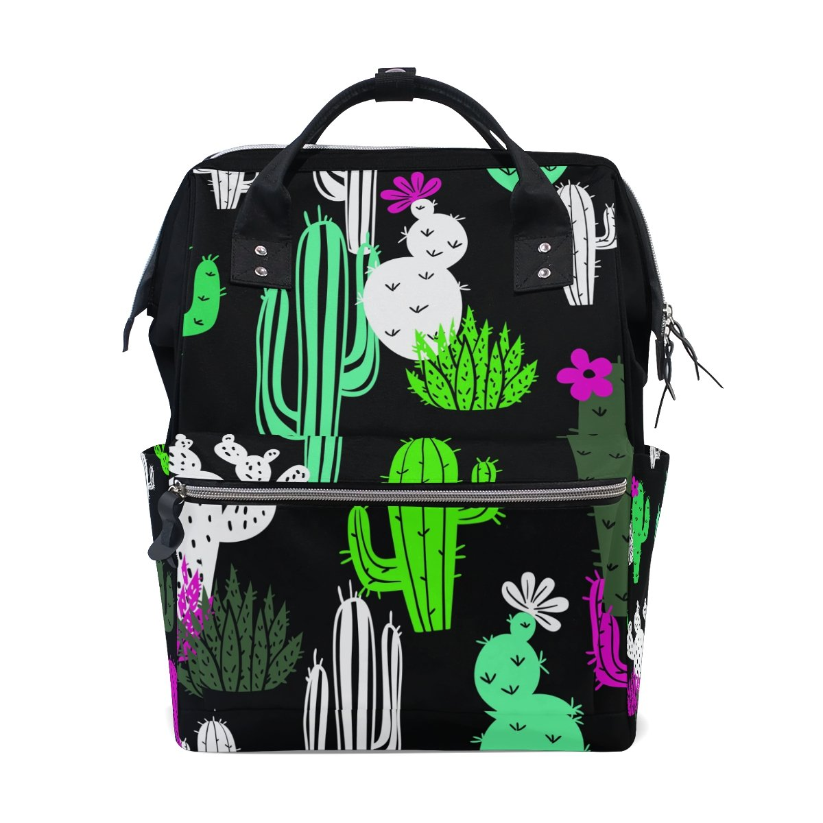 Hipster Floral Cactus Diaper Bag Bookbag School Shoulder Multi Functional Stylish Large Backpack Capacity Nappy Bags Mummy Durable Travel