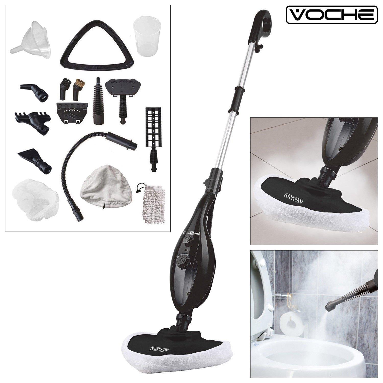 per pavimenti moquette Platinium Tech multifunzione portatile 1300 W cucine Scopa a vapore Deluxe 16 in 1 polvere sporco