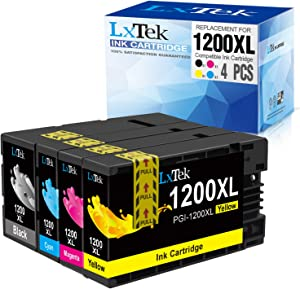 LxTek Compatible Ink Cartridge Replacement for Canon 1200XL PGI-1200 PGI1200XL to use with MAXIFY MB2720 MB2120 MB2320 MB2020 Printer (4 Pack-High Yield)