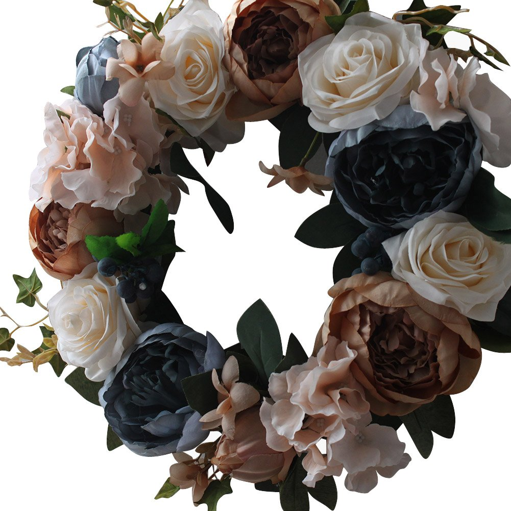 Vintage Rose Wreath Home Wall Decorations by LOUHO (Image #2)
