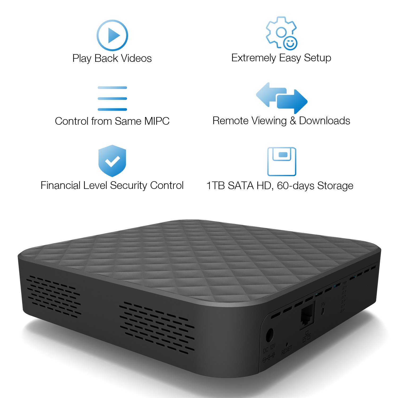 LeFun Cloud Storage Box with 1TB SATA Hard Disk Supports all LeFun Wireless  IP Camera