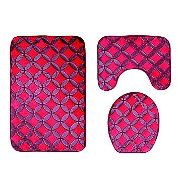 Ounona Badezimmerteppich Set Wasserabsorbierende Badematte Sockel