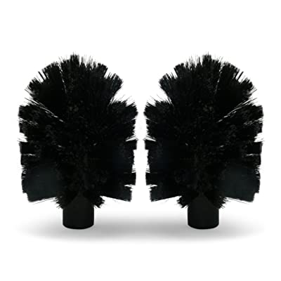Brush Hero BH107 Replacement Brushes, Pair (Soft- Black/Black): Automotive