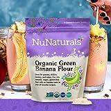 NuNaturals Organic Green Banana Flour Certified Organic, Non-GMO, Vegan, Gluten Free (1 lb)