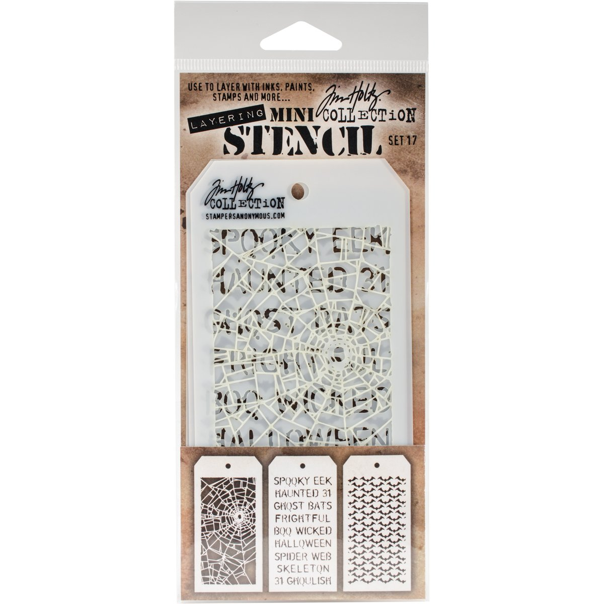 Stampers Anonymous Tim Holtz Mini #13 Layering Stencil