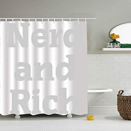 Amazon com: XPNiao Shower Curtain Nerd and Rich 3D Print Mom