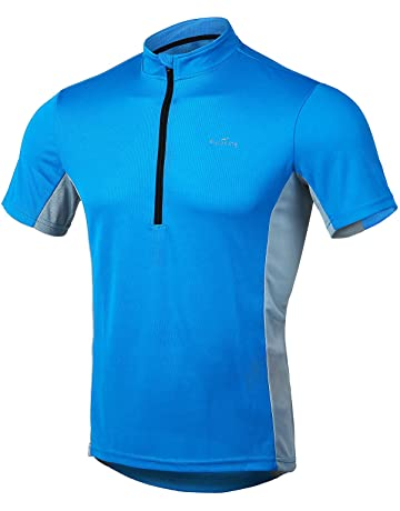 4ucycling Short Sleeve Quick Dry Bike Jersey - US Size Breathable Basic Shirts  for Sports dc6bfd609