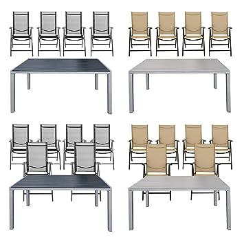 Amazon De Estexo Gartentisch Set Wpc 150x90 Mit 4 6 Stuhle