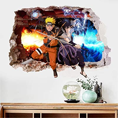 OLMITA Anime Wall Mural 3D Naruto Photo Wallpaper Boys Kids Bedroom Custom Cartoon Wallpaper Home Large Wall Art Room Decor,E: Kitchen & Dining