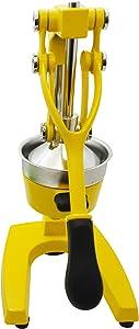 IMUSA USA J100-00109 Heavy Duty Cast Iron Citrus Juicer, Large, Yellow