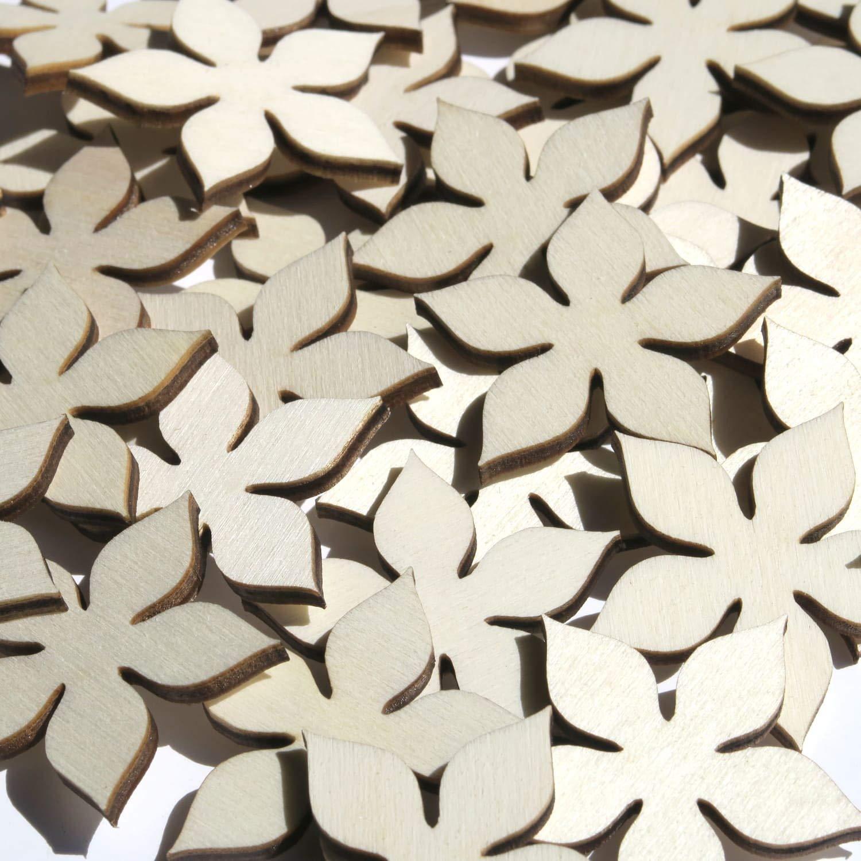 Butic Gmbh Holz Blumen Enzian 1 10cm Streudeko Basteln Deko