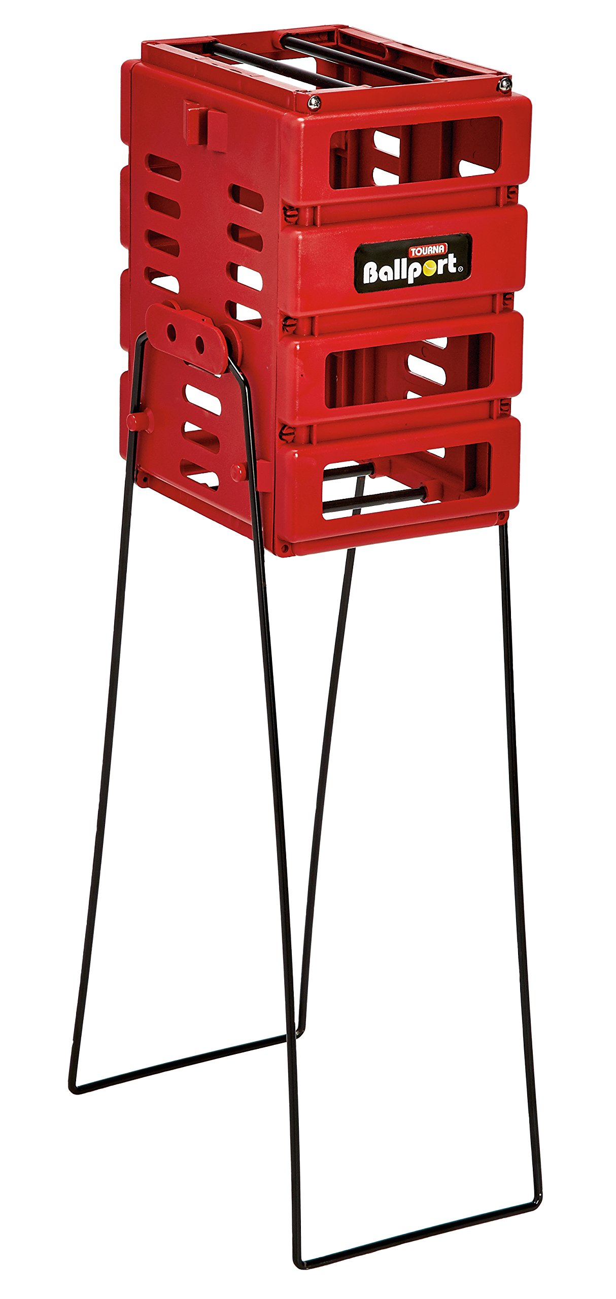 TOURNA Red Pete Sampras Mini Ballport, Holds 36 Balls