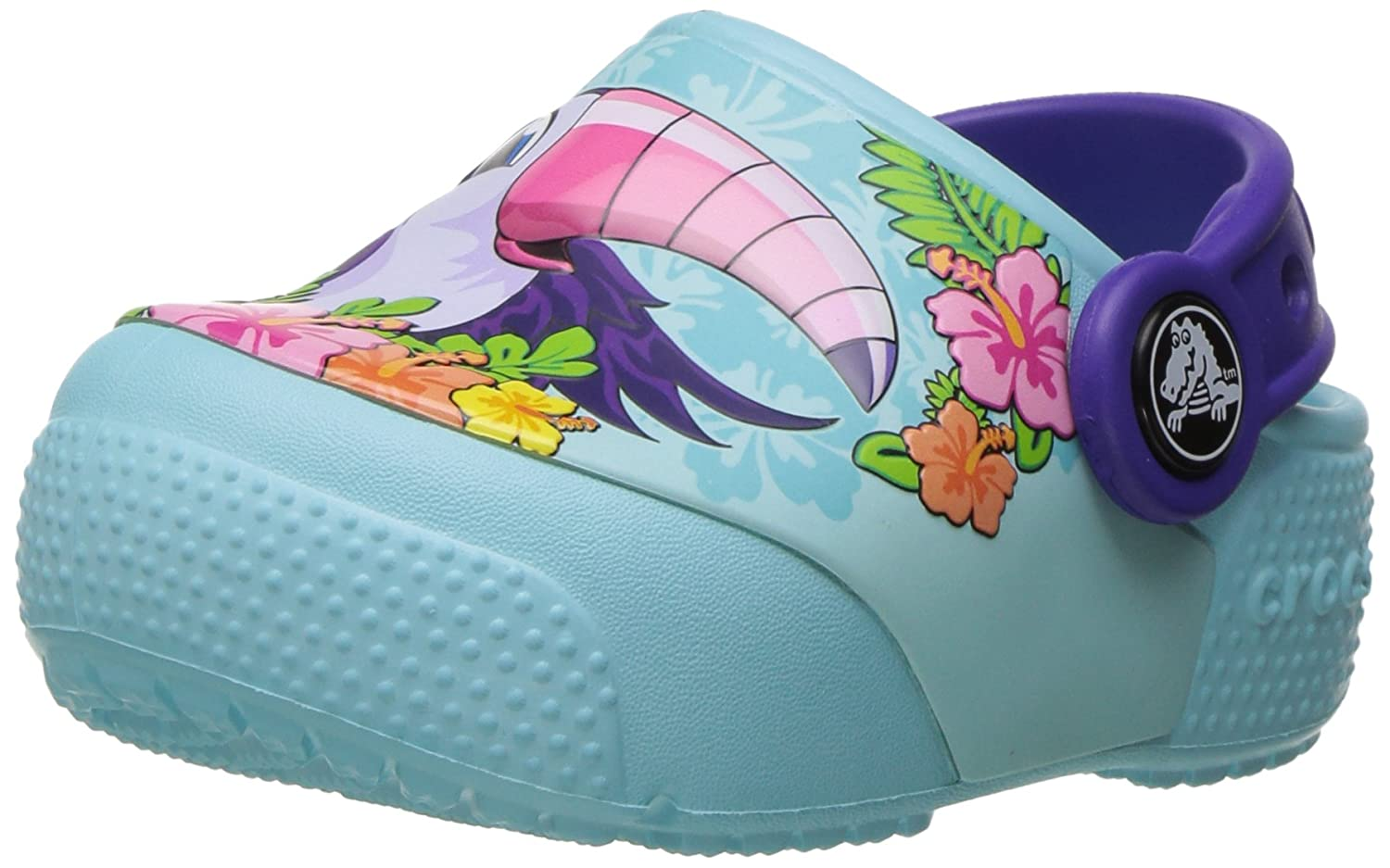 Crocs Kids' Fun Lab Light-up Girls Graphic Clog