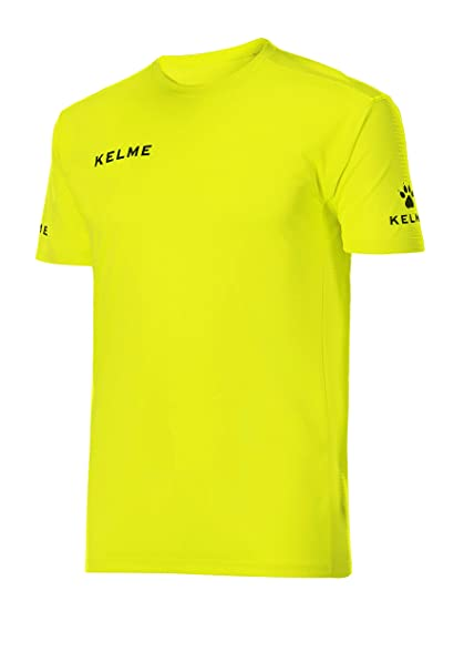 KELME 78190 Camiseta, Niños, Amarillo (Fluor) / Negro, 4