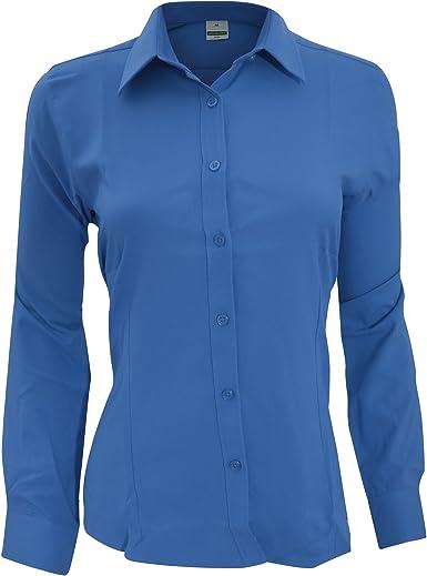 Henbury- Camisa de Trabajo de Manga Larga Transpirable antibacterias para Mujer: Amazon.es: Ropa y accesorios