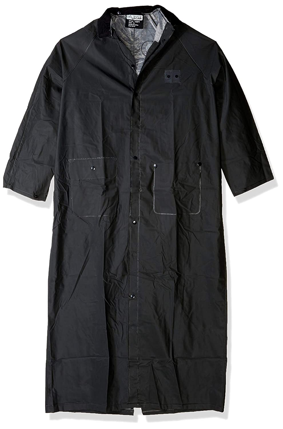 Black Each PVC Over Polyester 60 Rider Coat West Chester 4160BFR//L Limited Flammability Detachable Hood