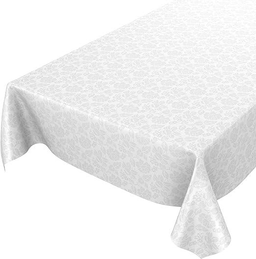En Relief Motif Floral Damassé Or PVC Nappe Vinyle Toile Cirée Cuisine Table de salle à manger
