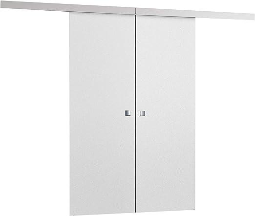 mirjan24 Puerta Corredera Sistema Multi Duo, 3 ancho a elegir, sincronización de abrir modernizado, Juego Completo para puertas correderas con guía de suelo Distancia Guía divisores puertas interiores: Amazon.es: Juguetes y juegos
