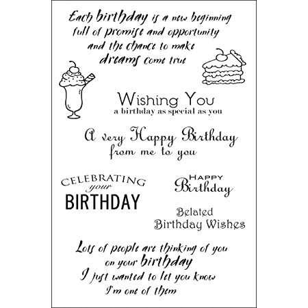 Woodware Francoise Collection Clear Magic Special Birthday