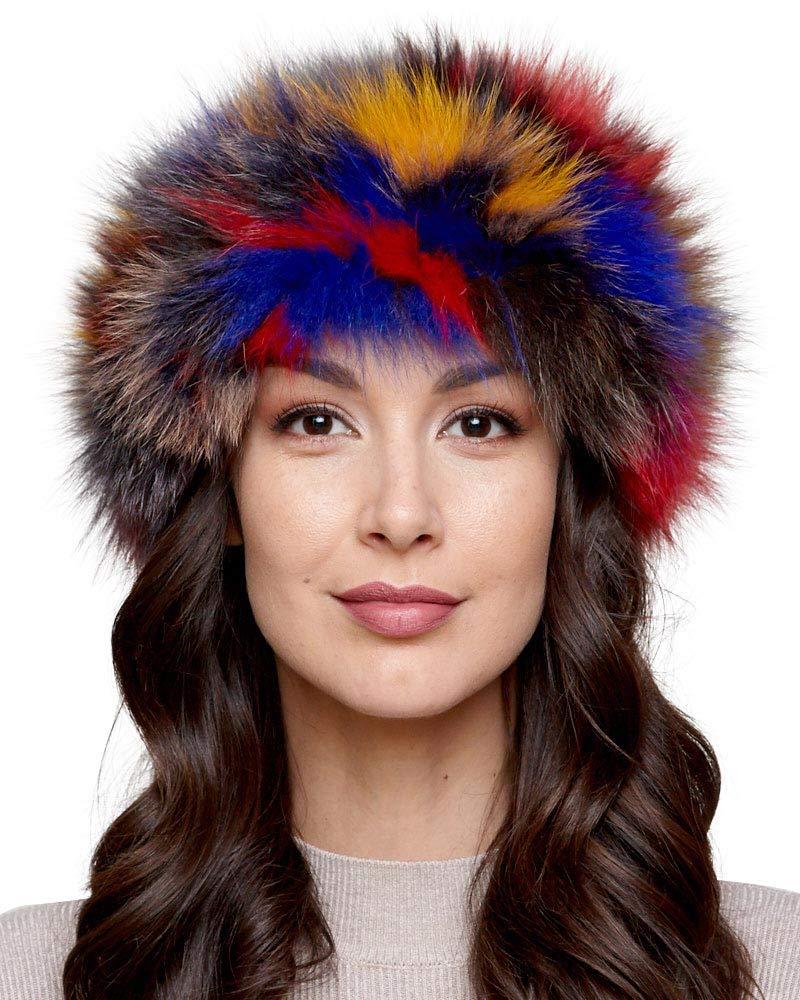 frr Fox Fur Headband in Multi-Color