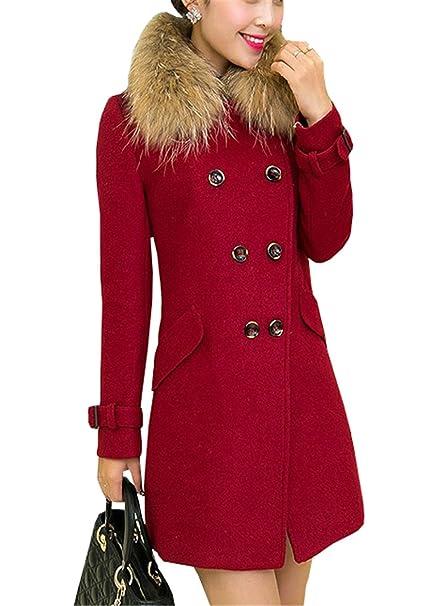 COCO clothing Lungo Cappotto Donna Caldo Ragazza Parka Jacket Lana Inverno  Taglia Unica Trench Cardigan Coat a440403b7521