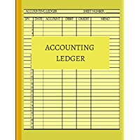 Accounting Ledger: Basic ledger book for monthly weekly personal ledger accounting journal pages  book sheets  paper for general accounting with 6 ... perfectbound for record keeping.. 8.5x11
